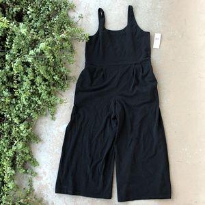 Eileen Fisher Black Cami Wide Leg Midi Jumpsuit